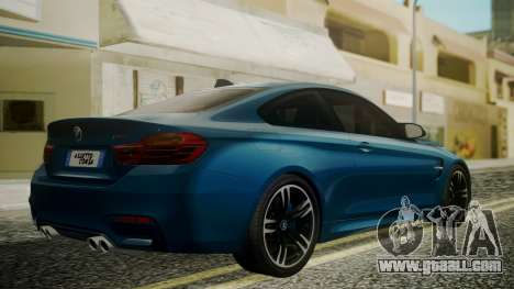 BMW M4 Coupe 2015 Brushed Aluminium for GTA San Andreas left view