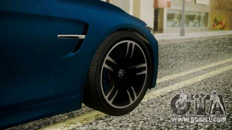 BMW M4 Coupe 2015 Brushed Aluminium for GTA San Andreas back left view