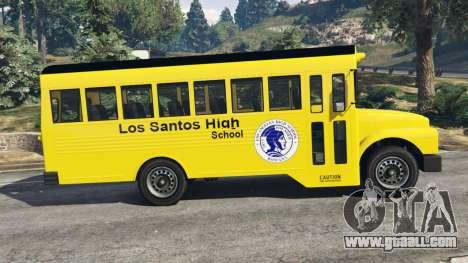 GTA 5 Classic school bus left side view