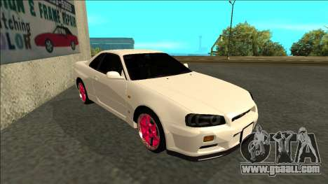 Nissan Skyline R34 Drift JDM for GTA San Andreas left view