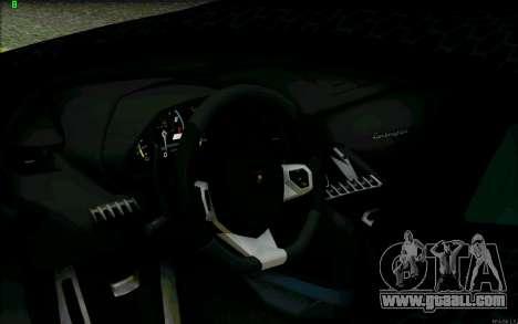 Lamborghini Aventador LP-700 Razer Gaming for GTA San Andreas upper view