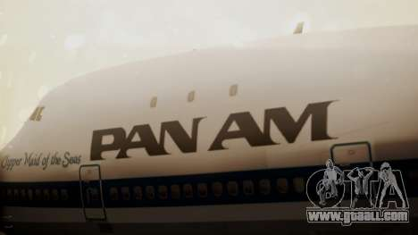 Boeing 747-100 Pan Am Clipper Maid of the Seas for GTA San Andreas back view