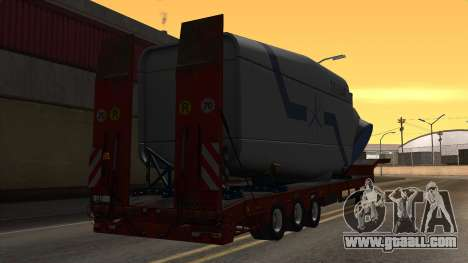 Overweight Trailer Stock for GTA San Andreas left view