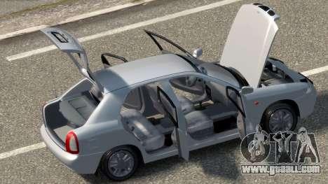 Daewoo Nubira I Hatchback CDX 1997 for GTA 4 inner view
