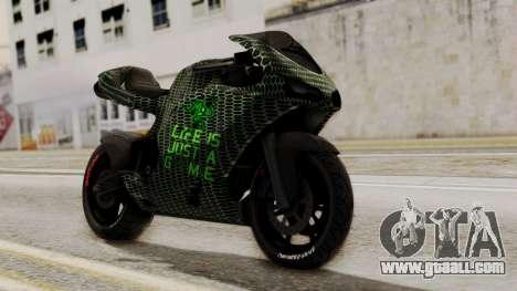 Bati Motorcycle Razer Gaming Edition for GTA San Andreas