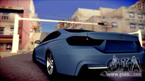 BMW 4 Series Coupe M Sport for GTA San Andreas back left view