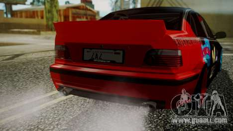 BMW M3 E36 Happy Drift Friends for GTA San Andreas back view