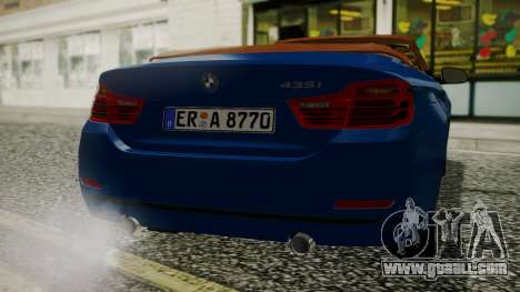 BMW M4 F32 Convertible 2014 for GTA San Andreas right view