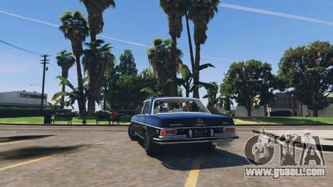 GTA 5 Mercedes-Benz 300SEL 6.3 v1.3 rear left side view