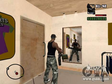 M249 for GTA San Andreas sixth screenshot