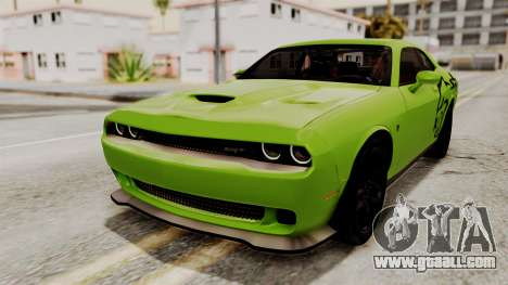 Dodge Challenger SRT Hellcat 2015 IVF for GTA San Andreas wheels