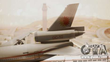 DC-10-10 National Airlines for GTA San Andreas back left view