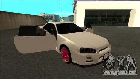 Nissan Skyline R34 Drift JDM for GTA San Andreas side view