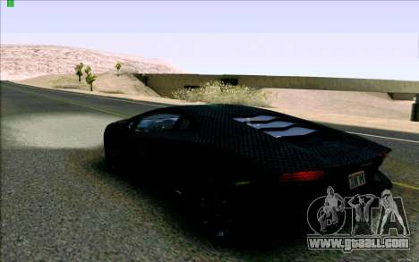 Lamborghini Aventador LP-700 Razer Gaming for GTA San Andreas back left view