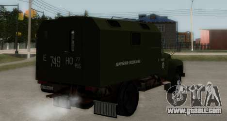 ZIL-130 Emergency Water for GTA San Andreas back left view