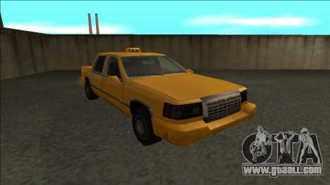 Stretch Sedan Taxi for GTA San Andreas back view