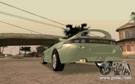 Mitsubishi Eclipse for GTA San Andreas back left view