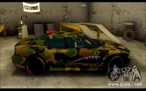 Bravado Buffalo Camo Shark Mouth for GTA San Andreas left view