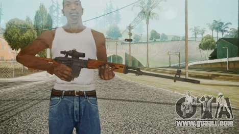 SVD Battlefield 3 for GTA San Andreas third screenshot