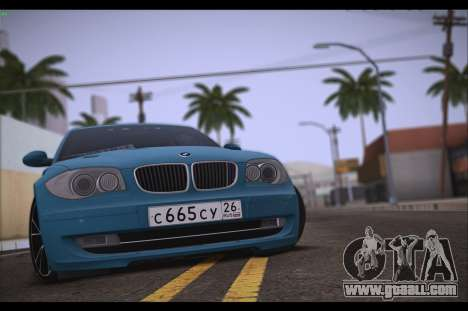 BMW 118i for GTA San Andreas right view
