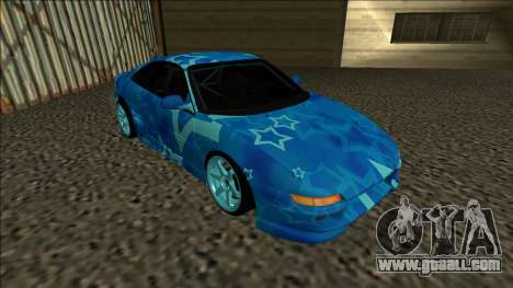 Toyota MR2 Drift Blue Star for GTA San Andreas left view