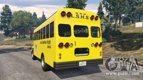 GTA 5 Classic school bus rear left side view