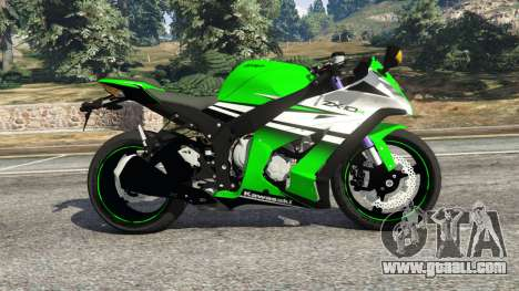 GTA 5 Kawasaki Ninja ZX-10R 2015 left side view