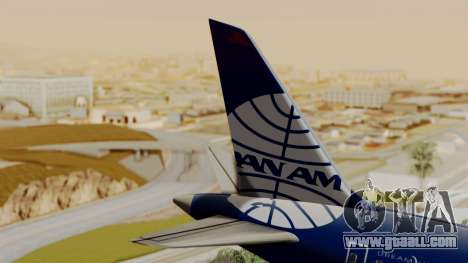 Boeing 787-9 Pan AM for GTA San Andreas back left view