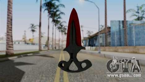 Shadow Dagger Bloody cobwebs for GTA San Andreas