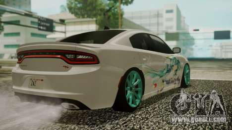 Dodge Charger RT 2015 Hatsune Miku for GTA San Andreas side view