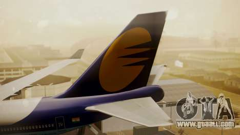 Boeing 747-400 Jat Airways for GTA San Andreas back left view