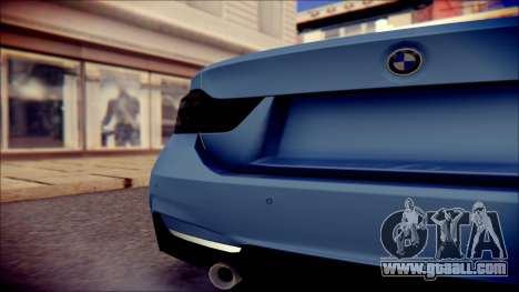BMW 4 Series Coupe M Sport for GTA San Andreas back view