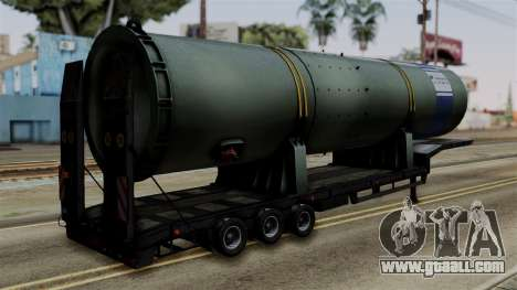 Overweight Trailer Black for GTA San Andreas left view
