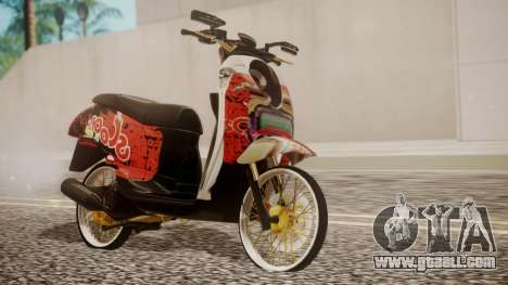 Honda Scoopy New Red for GTA San Andreas