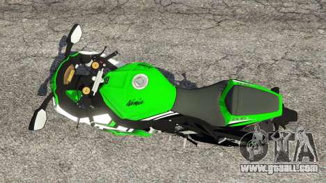 GTA 5 Kawasaki Ninja ZX-10R 2015 back view