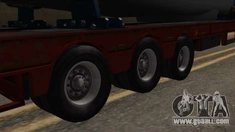 Overweight Trailer Stock for GTA San Andreas back left view