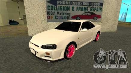 Nissan Skyline R34 Drift JDM for GTA San Andreas