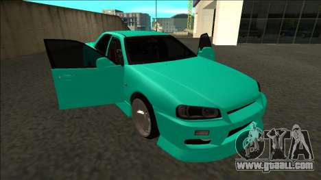 Nissan Skyline ER34 Drift for GTA San Andreas bottom view