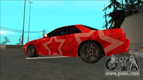 Nissan Skyline R32 Drift Red Star for GTA San Andreas left view