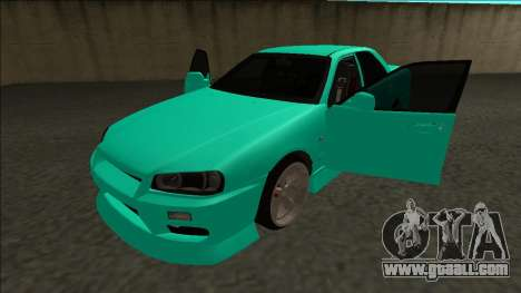 Nissan Skyline ER34 Drift for GTA San Andreas side view