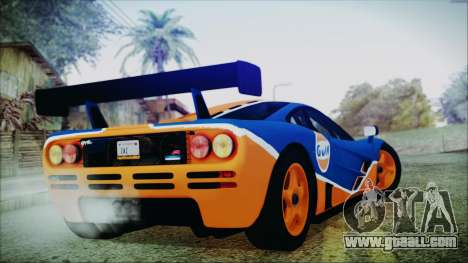 McLaren F1 GTR 1996 Gulf for GTA San Andreas left view