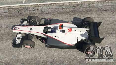 GTA 5 Sauber C29 [Pedro martínez de La Rosa] back view
