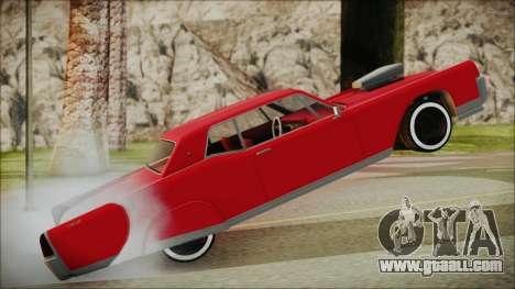 GTA 5 Vapid Chino Bobble Version IVF for GTA San Andreas back left view