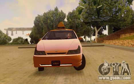Karin Dilettante Taxi for GTA San Andreas right view
