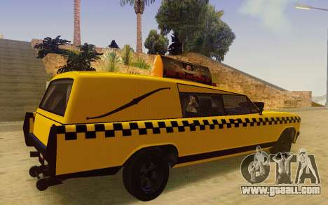 Albany Lurcher Taxi for GTA San Andreas back left view