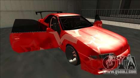 Nissan Skyline R32 Drift Red Star for GTA San Andreas bottom view