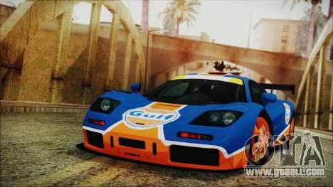 McLaren F1 GTR 1996 Gulf for GTA San Andreas
