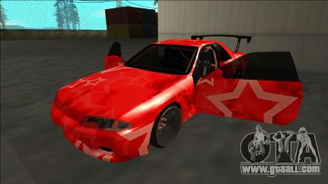 Nissan Skyline R32 Drift Red Star for GTA San Andreas side view