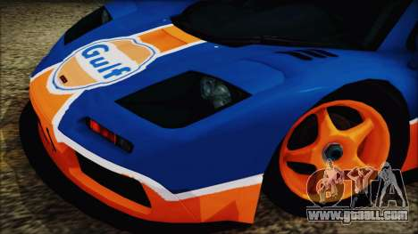 McLaren F1 GTR 1996 Gulf for GTA San Andreas back left view