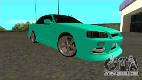 Nissan Skyline ER34 Drift for GTA San Andreas right view